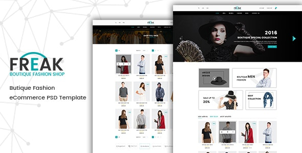 Freak - Boutique eCommerce PSD template - Fashion Retail