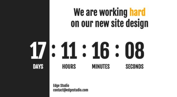 Coming Soon Edge Theme - Under Construction Specialty Pages