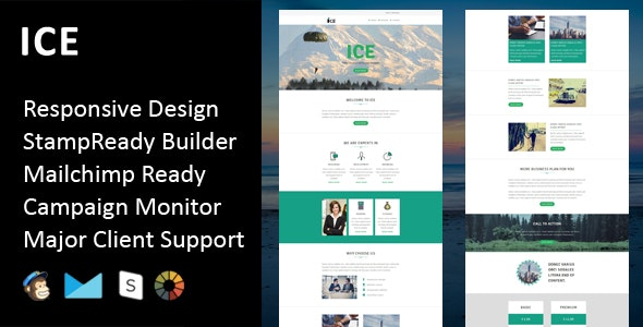 ICE - Multipurpose Responsive Email Template + Stampready Builder - Email Templates Marketing