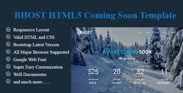 BHOST-HTML5 Coming Soon Template - Under Construction Specialty Pages