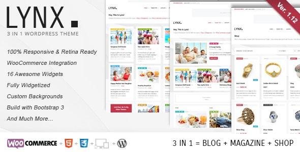 Lynx 3 in 1 - Retina Responsive Wordpress Theme - Blog / Magazine WordPress