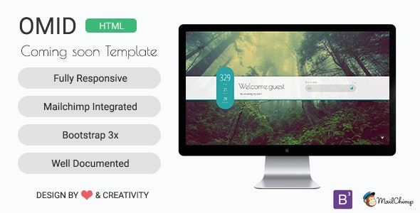 OMID | Modern Coming Soon Template - Under Construction Specialty Pages