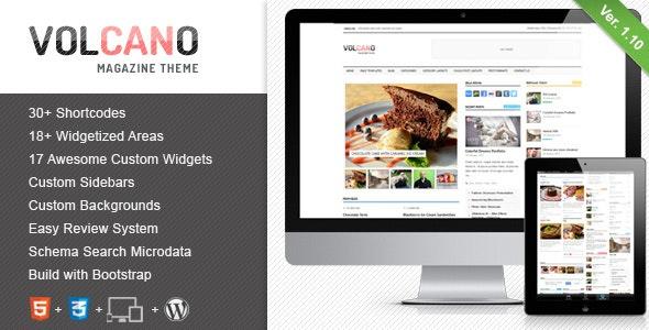 Volcano - Responsive WordPress Magazine / Blog - Blog / Magazine WordPress
