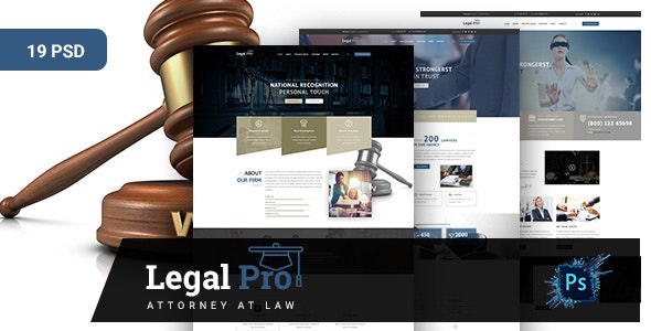 Legalpro -PSD Template for Law Firm, Lawyer and Attorney  - Business Corporate