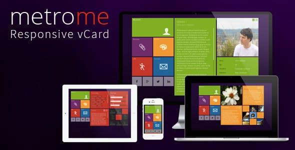 metroMe - Responsive vCard