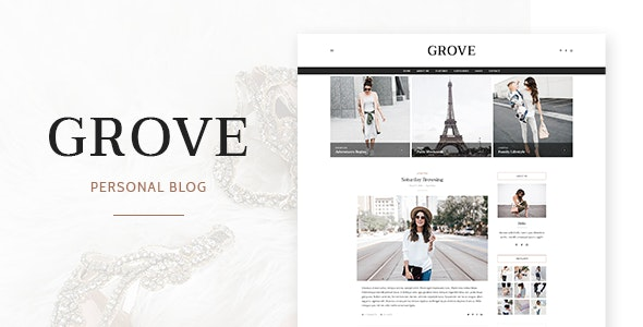 Grove - Personal Blog PSD Template - Personal Photoshop