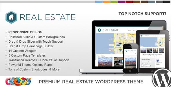 WP Pro Real Estate 3 Responsive WordPress Theme - Real Estate WordPress