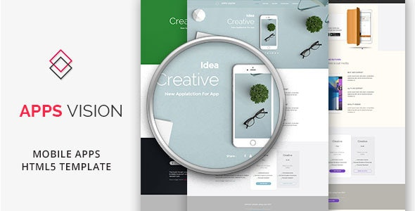 APPSVISION - Mobile App Landing Page - HTML Template - Creative Site Templates