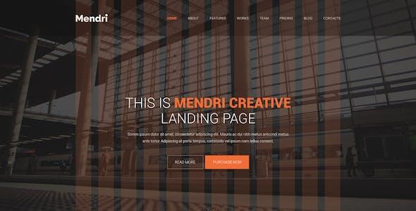 Mendri - Landing Page - PSD Template