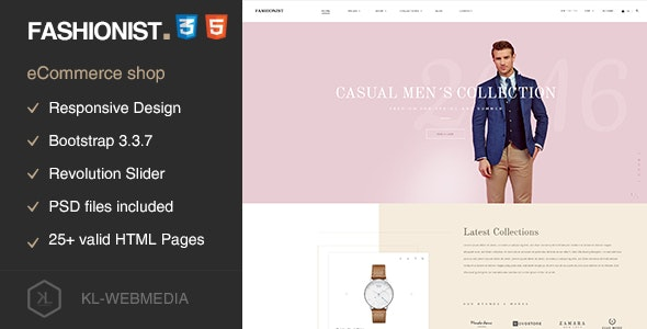 Fashionist - eCommerce Fashion HTML5 Template - Fashion Retail