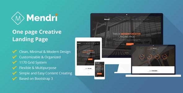 Mendri - Responsive HTML Template - Marketing Corporate