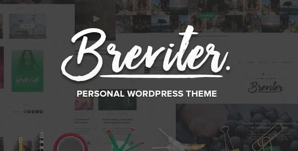 Breviter Pro - handcrafted blog WordPress theme - Personal Blog / Magazine