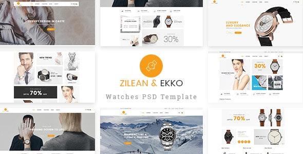 St Luxury Watch PSD Template - Corporate Photoshop
