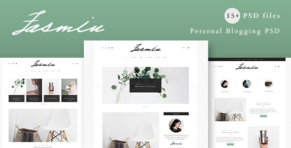 Jasmin - Personal Blogging / Blog PSD Template - PSD Templates