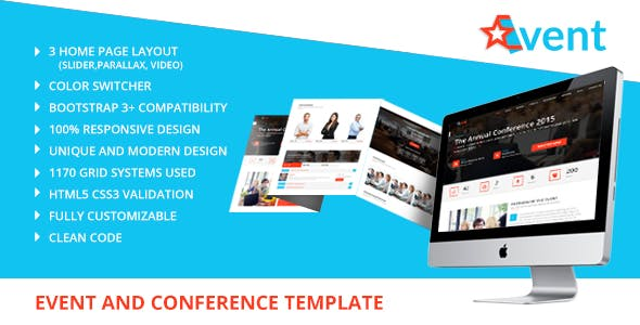 StarEvent - Conference & Event Management Template