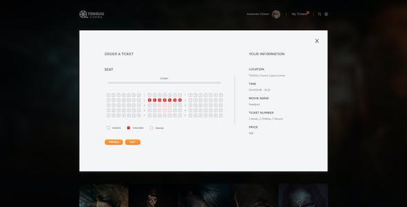Tenguu Cinema - Movie Theater Template