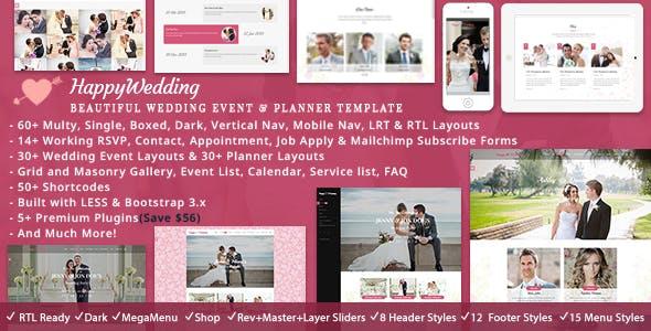 Happy Wedding HTML