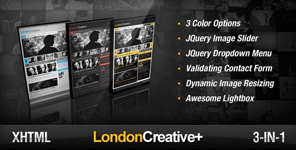 London Creative + ( Portfolio & Blog Template ) by FRESHFACE