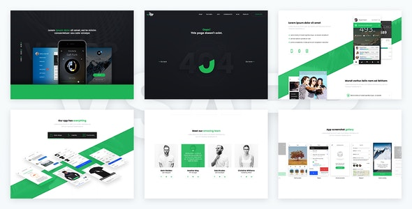 VSApp - Ultimate App Landing Page - Apps Technology