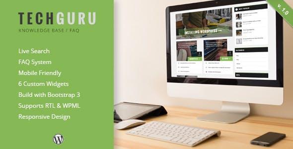 TechGuru - Responsive Knowledge Base FAQ WordPress Theme