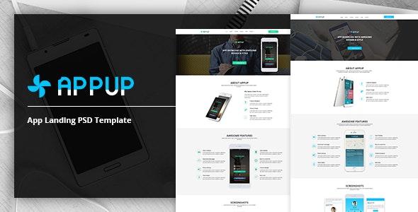 APPUP - App Landing PSD Template - Technology Photoshop