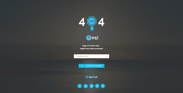 APPUP - App Landing PSD Template