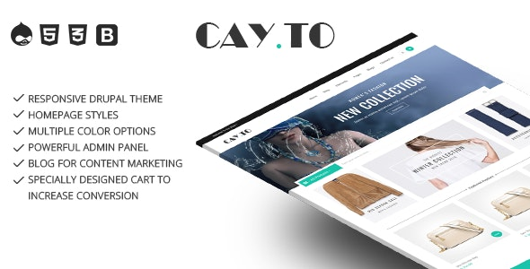 Cayto - Responsive Drupal Theme - Fashion Retail