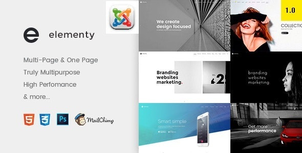 Elementy - Multipurpose One & Multi Page Joomla Template - Corporate Joomla