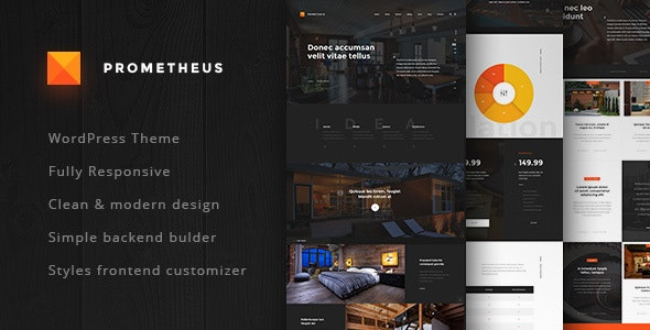WordPress Theme for Architects - Prometheus - Business Corporate