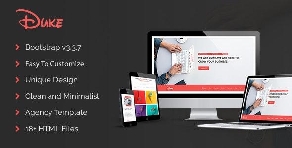 Duke - Responsive HTML5 Agency Template - Corporate Site Templates