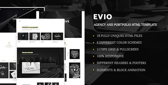 Evio - Agency & Portfolio HTML Template - Creative Site Templates