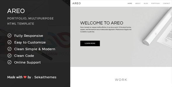 Areo - Responsive Multipurpose HTML Template - Portfolio Creative