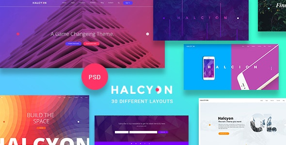 Halcyon - Multipurpose Modern Website PSD Template by milodesigns