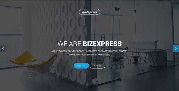 BizExpress - Onepage Corporate & Business Template PSD