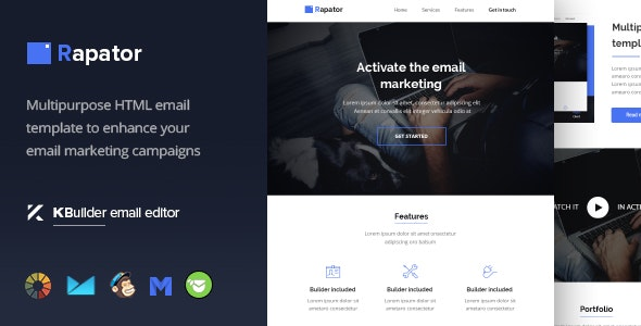 Rapator - Multipurpose Email Template + Builder 1.0  - Email Templates Marketing