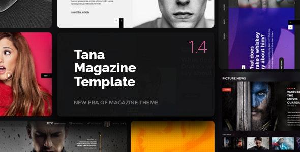 Magazine Tana - News, Music, Movie, Blog, Fashion Template - Site Templates