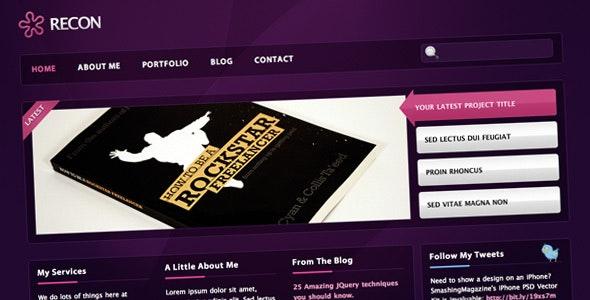 RECON - Sleek Portfolio Template - Creative Site Templates