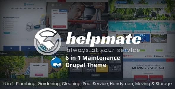 Helpmate - 6 in 1 Maintenance Drupal Theme - Corporate Drupal