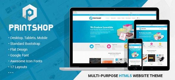 Printshop - Responsive HTML Printing Template - Corporate Site Templates