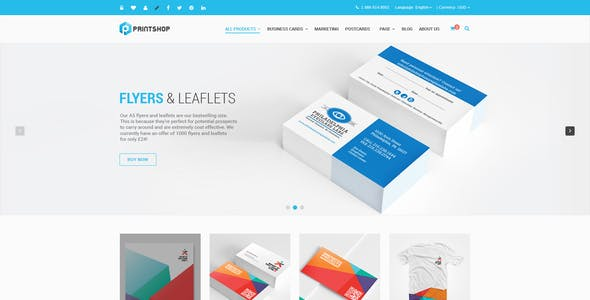 Printing HTML Website Templates from ThemeForest
