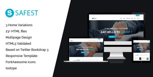 Safest - Insurance HTML Template - Miscellaneous Site Templates