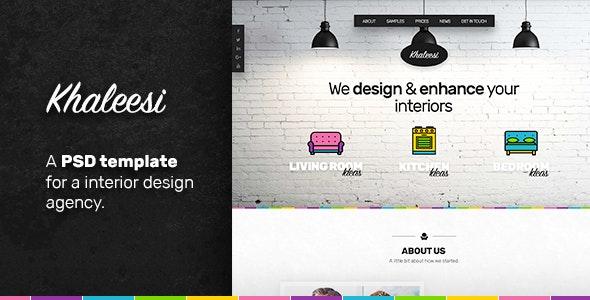 Khaleesi - Interior Design Agency - PSD template - Creative Photoshop