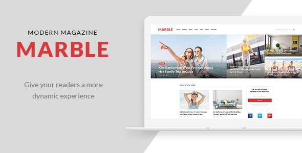Marble - Modern Magazine PSD Template