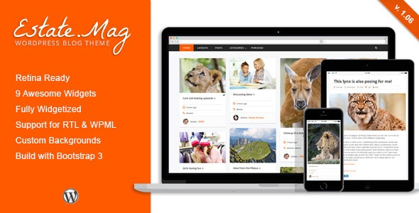 EstateMag - Responsive Wordpress Blog Theme - Personal Blog / Magazine