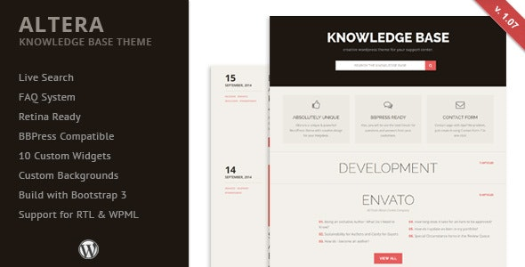 Altera - Knowledge Base WordPress Theme - Miscellaneous WordPress