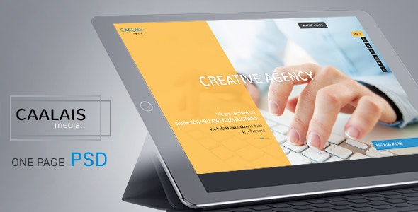 CAALAIS - Digital Agency One Page PSD Template - Business Corporate