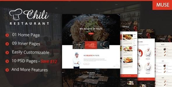 Chili - Premium Restaurant Muse Template - Corporate Muse Templates