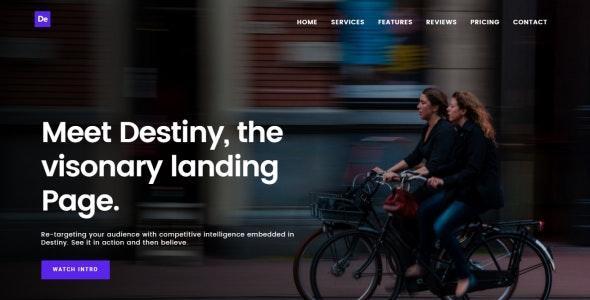 Destiny Multipurpose HTML Landing Page Template - Landing Pages Marketing