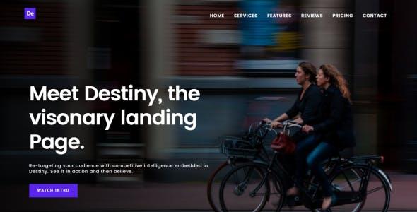 Destiny Multipurpose HTML Landing Page Template