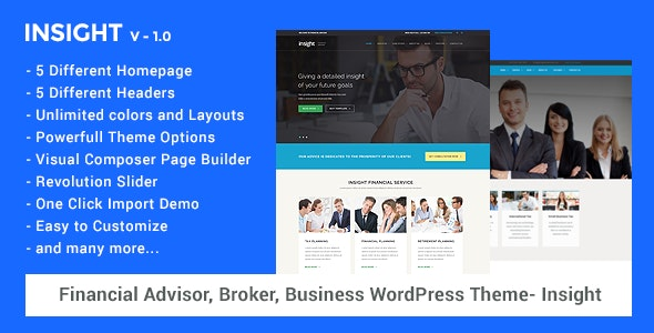 Financial Advisor, Business WordPress Theme - Insight - Miscellaneous WordPress